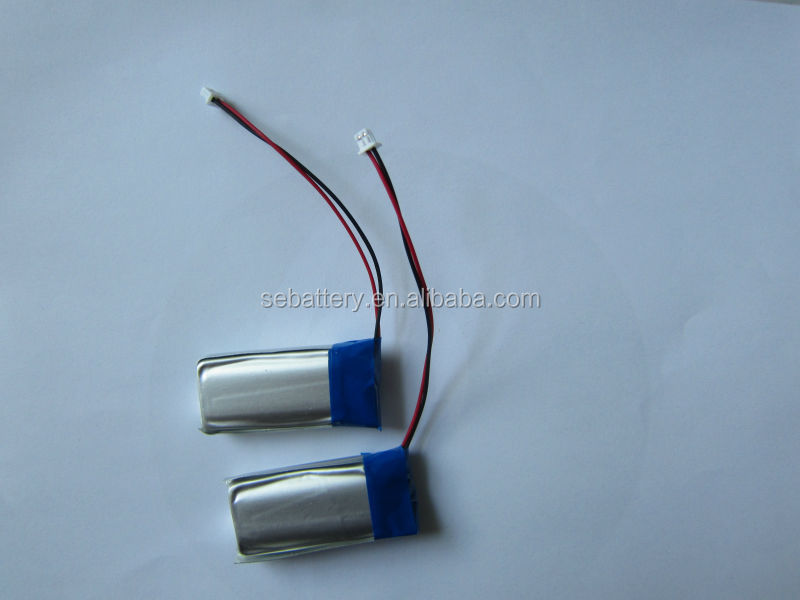 Rechargeable 752540 rc lithium battery