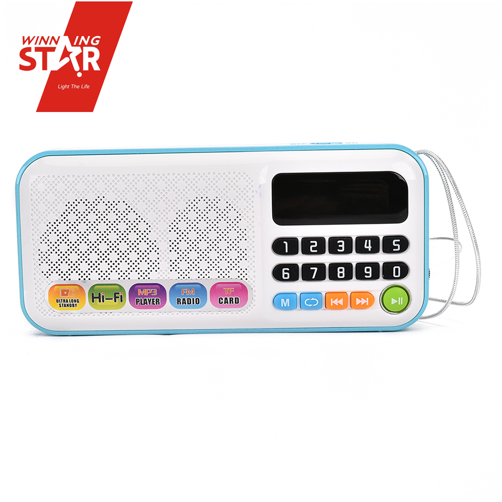 Mini pocket digital am fm music radio player