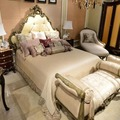 New Designed Retro Antique French Louis Style Solid Wood Hand Made Recoco Chippendale Bed Furniture BF08-YS015