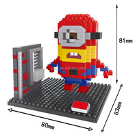 HSANHE Wholesale Anime Figures Spiderman and Despicable Me Toy building blocks