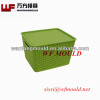 laundry basket mould/storage basket with cover mould/plastic injection mould