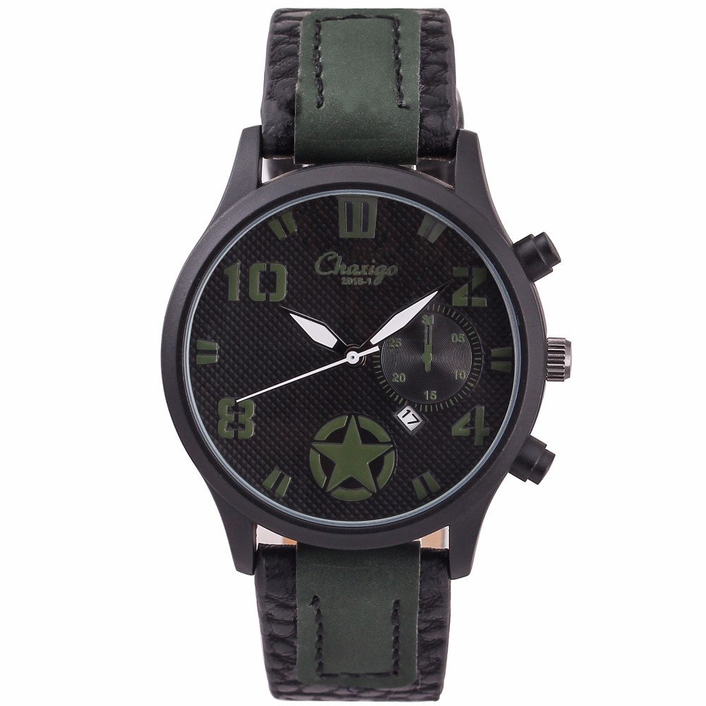 2016 new black man stainless steel back water resistant quartz watches 3 bar