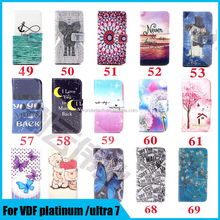 Colorful printing magnetic closure wallet flip stand leather case for vodafone smart ultra 7 platinum 7