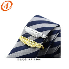 Funny cheap mens feather shaped tie clip on tie parts