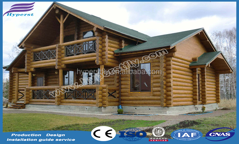 Profiled wooden house/log villa
