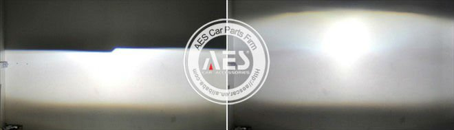 AES led Panamera hid projector lens kit,bi-xenon conversion kit for original H4 h7 headlight easy installation