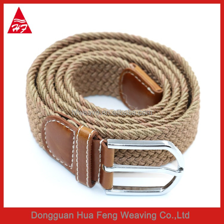 Women's Casual Braided Knitted Braided Elastic Stretch Belt With Alloy Pin Buckle Free Knitting Patterns for Belts