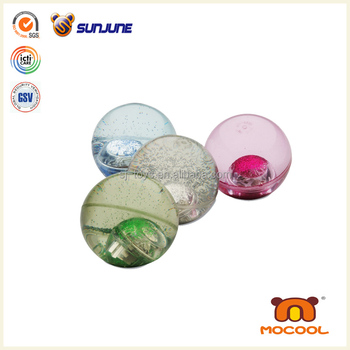 Clear LED bouncing ball, LED flashing light bounce ball