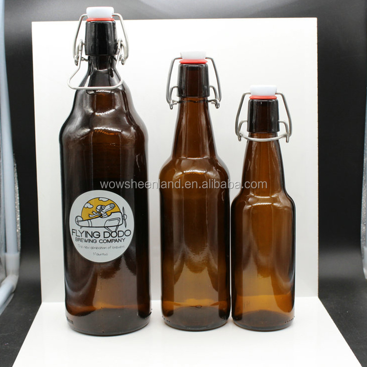 330ml 500ml 1000ml swing top beer bottle,glass amber beer bottle