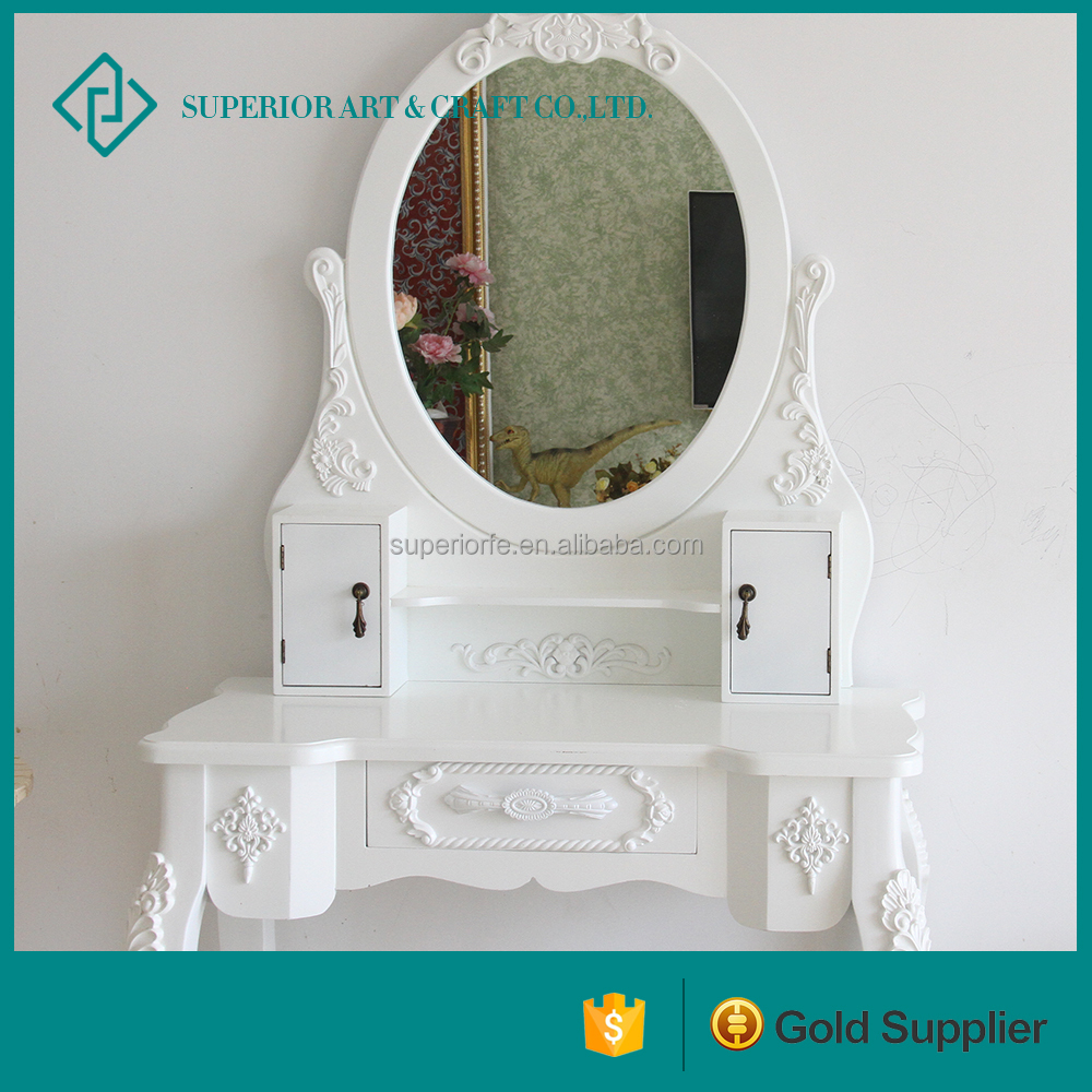 Classic Makeup Vanity Dressing Table With Cupboard