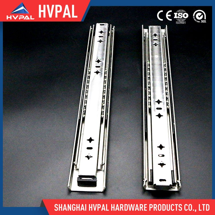 Full extension bayonet mounting drawer sliding tracks for drawers