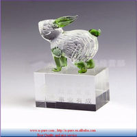 Colorful Crystal Rabbit Model for Corporate Souvenirs with gift Box