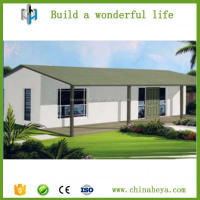 Light steel frame sandwich panel beutiful design 3 bedrooms prefab home