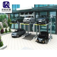 Best quality 2.7t two post parking lift double floor car parking system for office price