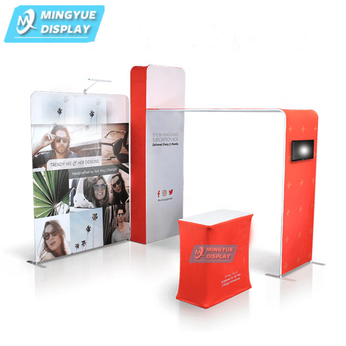 Aluminum fabric exhibition display stands solutions
