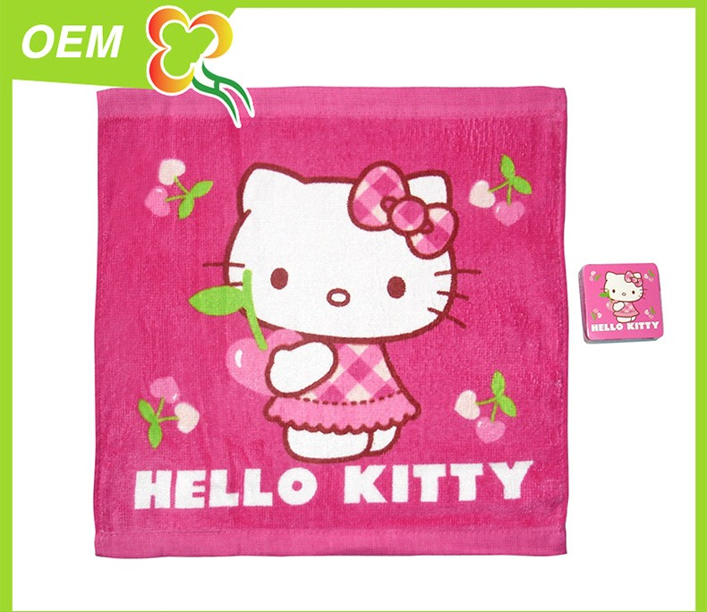 promotional 100% cotton compressed carton logo gift set towel