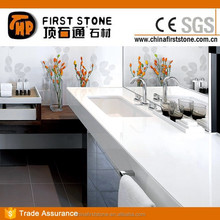 White Nano-Crystallized Glass Stone Vanities Bedroom Sets