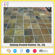 Chinese factory outdoot rusty natural floor slate paving tile for garden