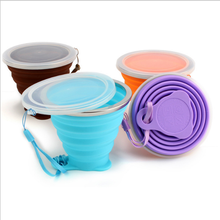 Upgrade 270ML ultra thin collapsible silicone travel water cup