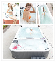 Jazzi hot sale freestanding outdoor swim spa sex swimming pool sexy girls SKT339A
