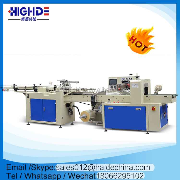 haide disposable printed cups row pillow type packing counting machine