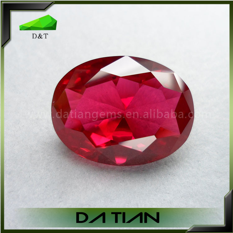 Exquisity beautiful synthetic oval rough uncut ruby gem
