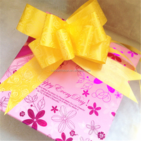 Cheap Polypropylene gift ribbon butterfly pull bow