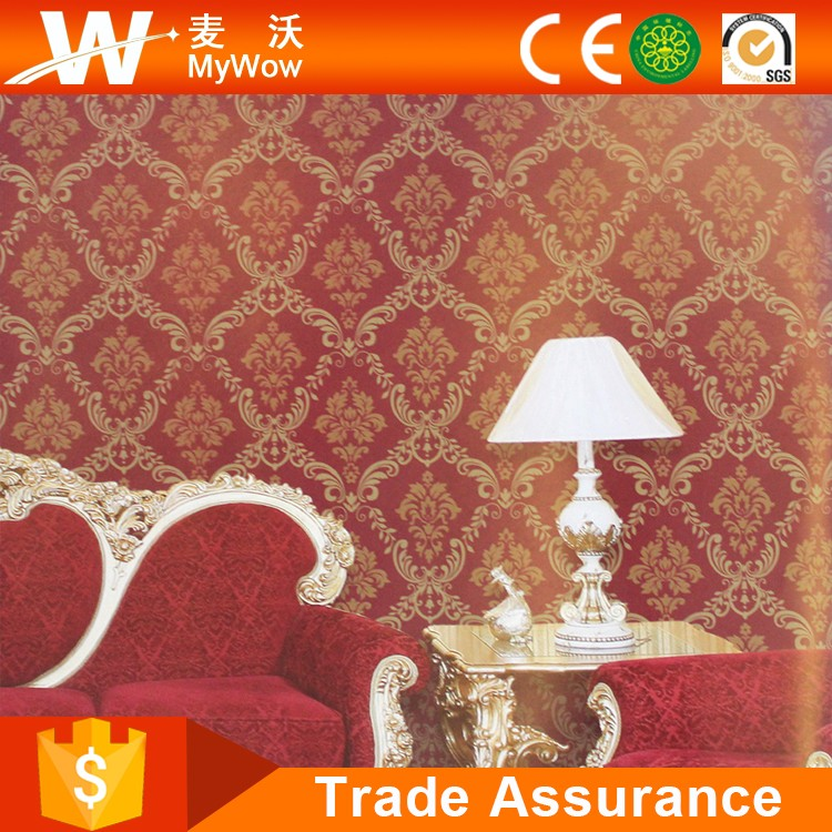 2016 New Living Room/Bedroom/Office/Restaurant Red Chinese Wallpaper