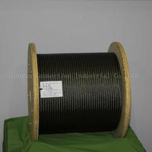 12mm galvanized stainless 7*7 steel wire rope for auto cables