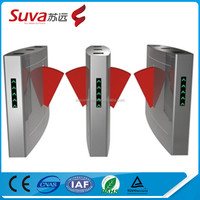 2-Lane RFID Automatic Flap Wing turnstile Barrier gate control system