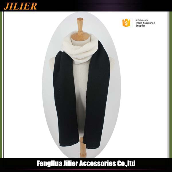 Best selling new high quality fashion cheap professional black and white hijab scarf
