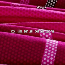 Circle Dot Printed Polyester Fabric For Bedding