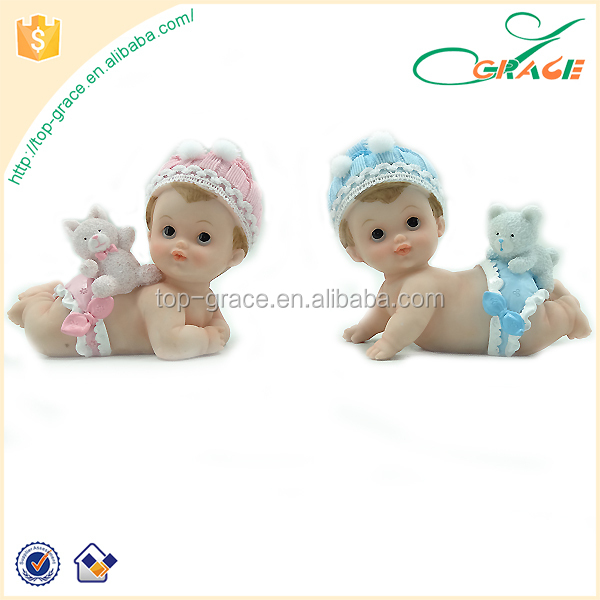 polyresin baby shower birthday cake topper baby figures