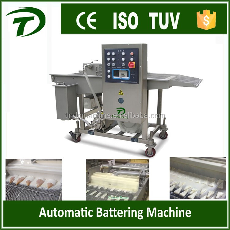 Automatic hamburger patty batter breading machine