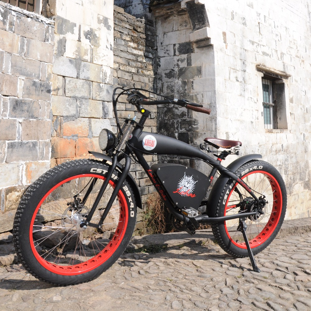 Classical Fat Tire Electric Bike Lohas Vehicle Supplying