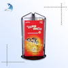 Wholesale removable floating advertising personalized acrylic rotating table tent