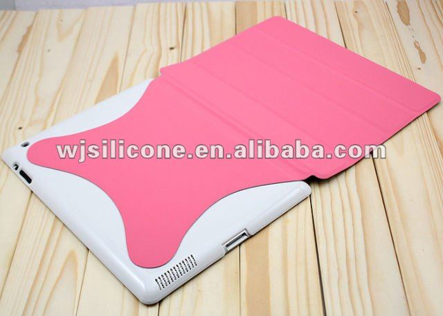 pc+leather smart design skin case cover for ipad2