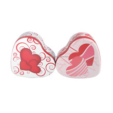 Valentine's Day heart shape chocolate packaging gift box /heart shape tin can