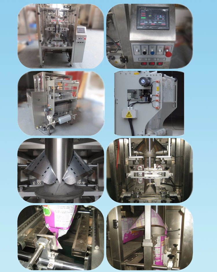 China Manufacturer VFFS Vertical Form Fill and Seal Stand up/Flat Bottom Pouch Granola Bar Packaging Machine