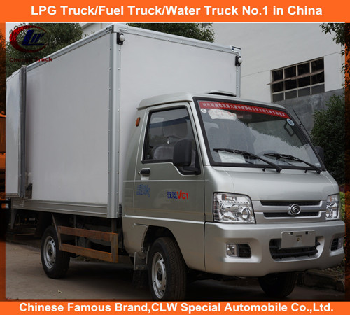 Foton 3 ton mini box cargo truck 4*2 box refrigerate truck for cargo transport