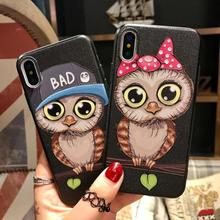 Couple Design Cell Phone Accessory for iPhone 6 6s 7 8 Plus X TPU Back Cover Cat Phone Case