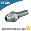 16711 AGJ Jic Male Thread Forged High Pressure Hydraulic Fittings Eaton hydraulic carbon steel zinc plated swaged hose fitting