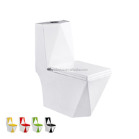 Western ceramic sanitary ware siphon jet flushing toilet bowls bathroom lavatory white water closet for hospital school