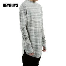 MOON BUNNY HEYGUYS 2016 extend hip hop street T-shirt wholesale fashion brand t shirts men summer long sleeve oversize design ho