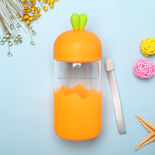 KA014 Cheap glass Cartoon Water Bottle for Kids