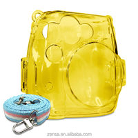 Fujifilm Instax Mini 8 Photo Protection Crystal Camera Case / Strap - Yellow