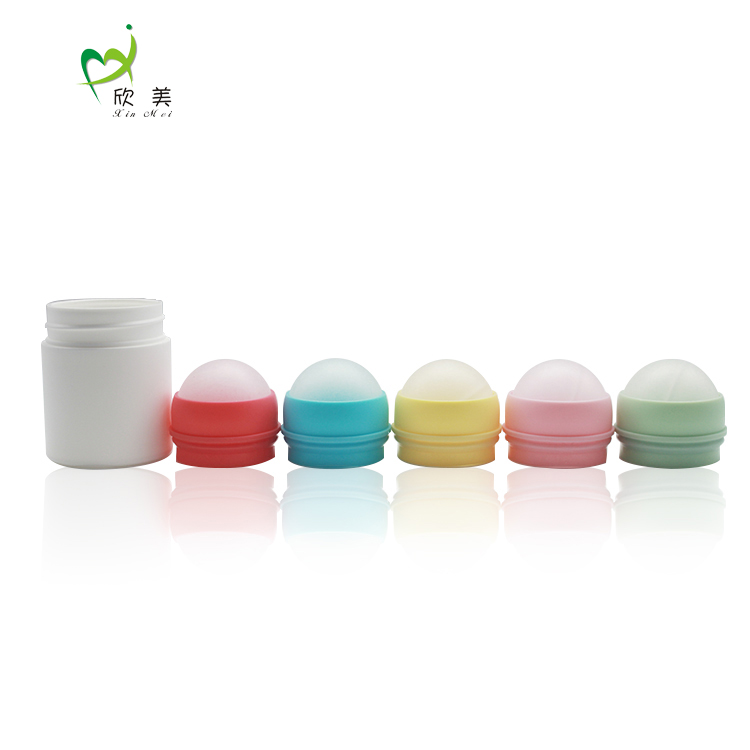 Professional manufacture plastic roll-on empty deodorant bottle, 50ML fancy cosmetic empty deodorant plastic roll on bottle