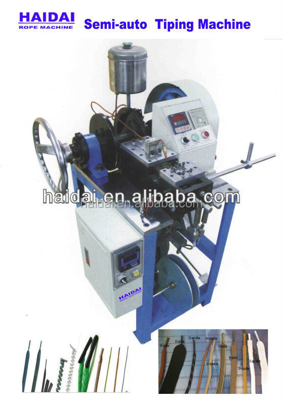 Automatic plastic shoe lace tipping machine for shoe lace and hand bag lace