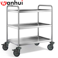 hotel and restaurant glass tea trolley