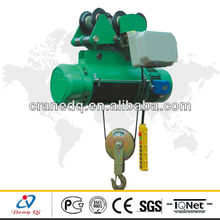 2t sigle-speed industry wire rope electric hoist,portable construction lifting equipment